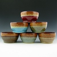 Cereal, Soup, Dip Bowls with Honey Brown Interior - 20 Ounce - Handmade To Order Ships in 3 Weeks   TwistedRiverClay - Ceramics & Pottery on ArtFire