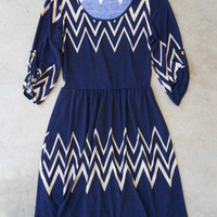 Poised River Dress in Navy