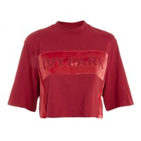 Crop Velvet Sweatshirt by Ivy Park - New In Fashion - New In
