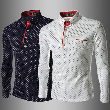 Dotted T-Shirt Styled Shirt