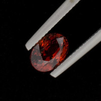 Spessartite Garnet: 2.18ct Red Orange Oval Shape Gemstone, Jewelry Gem Casting, Right-Hand Ring, Creative Designers, Gem Cutter, 14k 20919