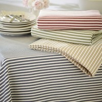 Thatcher Ticking Stripe Tablecloth