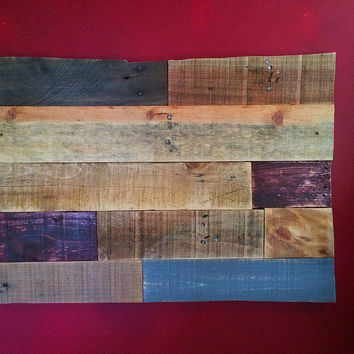 Colorado STATEment piece made from reclaimed Palletwood