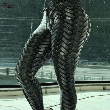 Iron Armor Weaving Women Leggings