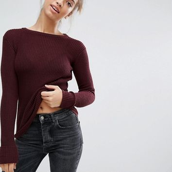 Pull&Bear Side Split Sweater at asos.com
