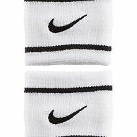 Nike Dri-Fit Striped Singlewide Wristband White/Black