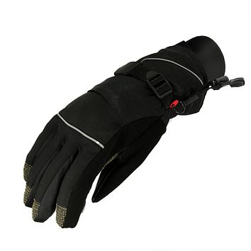 Women's Black Softshell Winter Thinsulate Insulated Touchscreen Ski Freestyle Gloves - Small