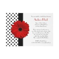 Black and White Polka Dot Bridal Shower Invitation from Zazzle.com