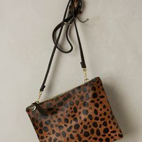 Clare V Leopard Crossbody Bag in Black Motif Size: One Size Bags