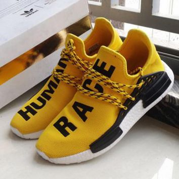 Adidas NMD Human Race Yellow Leisure Running Sports Shoes One-nice™