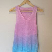 Pastel dip dye knitted vest