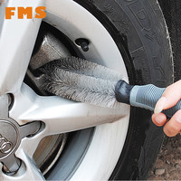 Hot Sale Car Accessories Wheel Brush Gray Car Styling Wash Soft Rubber Grip Brush car detailing Cleaning Supplies Car Wash Brush
