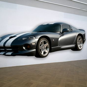 Dodge Viper Muscle Car WALL DECAL REMOVABLE REPOSITIONABLE
