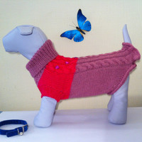 Big Dog Clothing. Sweater For Big Dog. Pet Handmade Knit Clothes. Big Knit Winter Sweater For Big Dog.Size XXL