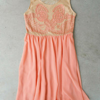 Desert Peach Party Dress