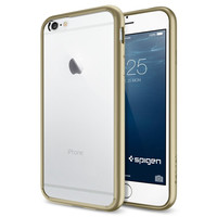 The Champagne and Clear Ultra Hybrid Bumper iPhone 6/6s Case