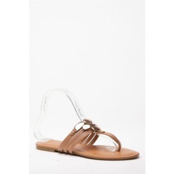Chestnut Faux Leather Gold Accent Sandals @ Cicihot Sandals Shoes online store sale:Sandals,Thong Sandals,Women's Sandals,Dress Sandals,Summer Shoes,Spring Shoes,Wooden Sandal,Ladies Sandals,Girls Sandals,Evening Dress Shoes