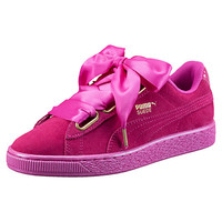 Suede Heart Satin Women's Sneakers, buy it @ www.puma.com