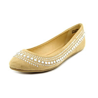 CL by Laundry Hillary Women's Shoe. Ballet inspired. Vegan Friendly Sand Color Suede. Size 8.5
