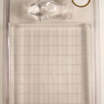 Lot 4 Martha Stewart Crafts Stamp Mount 4x6 Clear Handle Acrylic Glue Scrapbook