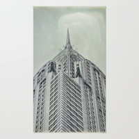 Vintage Chrysler Cuilding 1930's Area & Throw Rug by Wood-n-Images | Society6