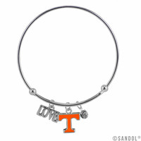 Tennessee Volunteers Coil Wire Bangle Bracelet
