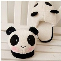 Adorable Stuffed Animal Warm Winter Panda Slippers