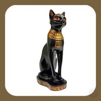 """Goddess  of Protection & Pleasure"" Bastet Statue"