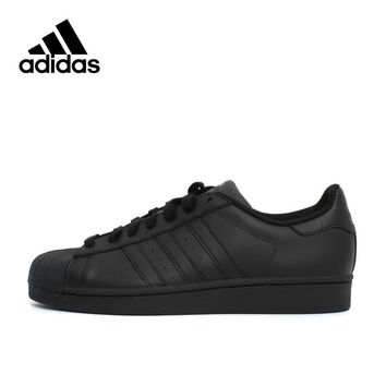 Adidas Originals SUPERSTAR Black Hard-Wearing Men's nd Women's Skateboarding shoes,New Arrival Authentic Sports Sneakers