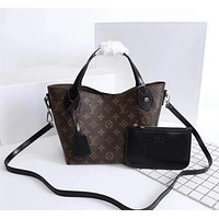 LV Louis Vuitton MONOGRAM CANVAS HINA HANDBAG SHOULDER BAG