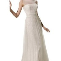 Biggoldapple Sheath/Column Bateau Sweep/Brush Train Wedding Dress 461x