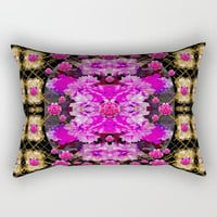 Flowers and gold in fauna decorative style Rectangular Pillow by Pepita Selles