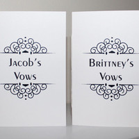 Wedding Vow Booklets - Matte, Pearlescent and Metallic Covers