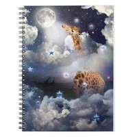Shoot For The Moon (Giraffe in Clouds) Notebook