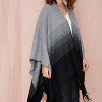 Ombré All Day Knit Poncho