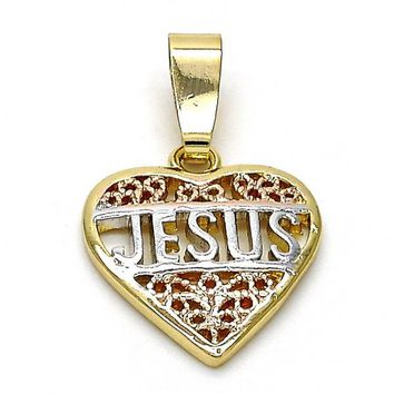 Gold Layered 5.199.043 Religious Pendant, Polished Finish, Tri Tone