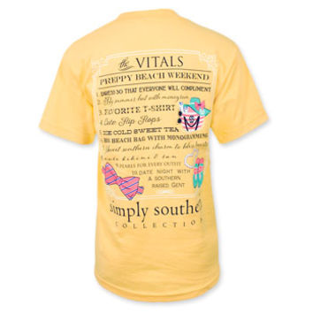 Simply Southern Vitals Beach Weekend T-Shirt - Squash