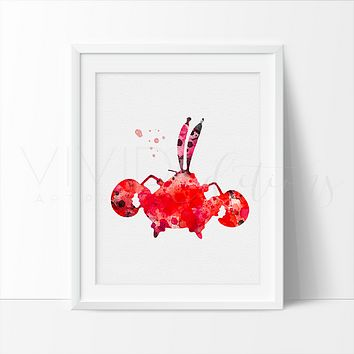 Mr. Krabs Watercolor Art Print