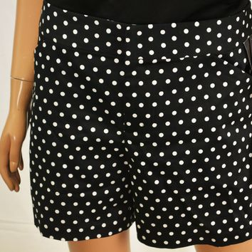INC International Concepts Women's Black Dotted Casual Shorts 12