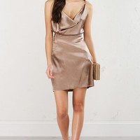 Satin Dress in Gold