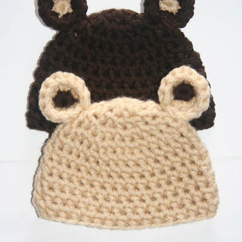 Crochet Bear Ears Infant Hat Photo Prop Halloween in Sizes Preemie - 6 Months