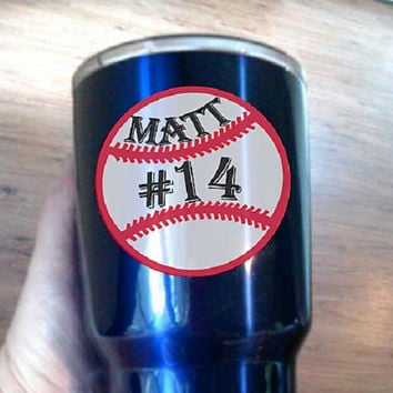 Personalized Baseball decal for Mom