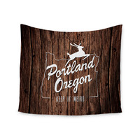 "Juan Paolo ""Keep it Weird"" Brown Portland Wall Tapestry"