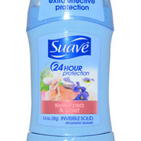 24 Hour Protection Sweet Pea & Violet Invisible Solid Anti-Perspirant Deodorant Deodorant Stick Suave