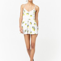 Strappy Lemon Print Romper