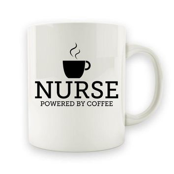 ac NOVO Nurse - Powered By Coffee - 15oz Mug