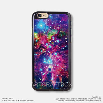 glitter galaxy nebula Free Shipping iPhone 6 6Plus case iPhone 5s case iPhone 5C case 077
