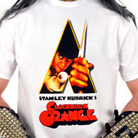 HORROR MOVIE - A Clockwork Orange (WHITE T-Shirt)