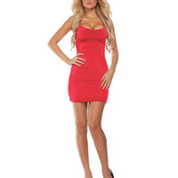 Costume Starter Dress W-straps Red M-l