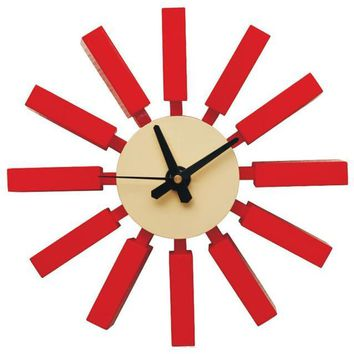 Spoke Clock | Red